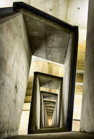 concrete structure: modern spiral staircase - concrete - photo