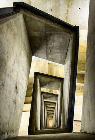 hormig�n: moderna escalera de caracol - hormig�n - foto