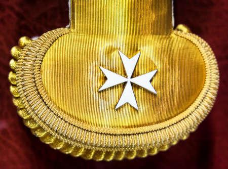 templar: old coat of arms of malta Stock Photo