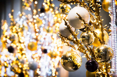 group of christmas baubles: christmas bauble - christmas decoration - closeup Stock Photo