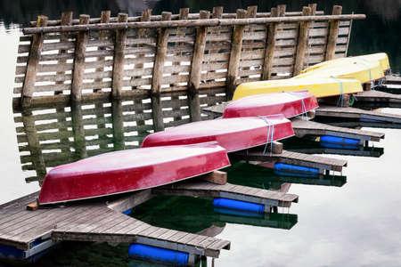 rowboats: rowboats at a lake in bavaria Stock Photo