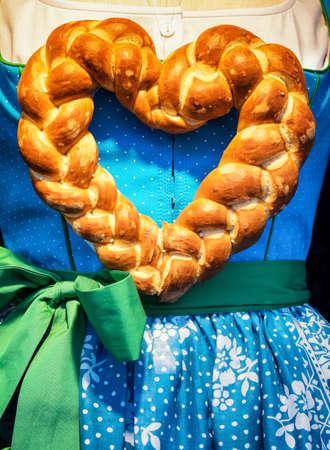 pretzel: pretzel heart and typical dirndl