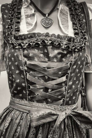 specific clothing: part of a traditional dirndl - tracht
