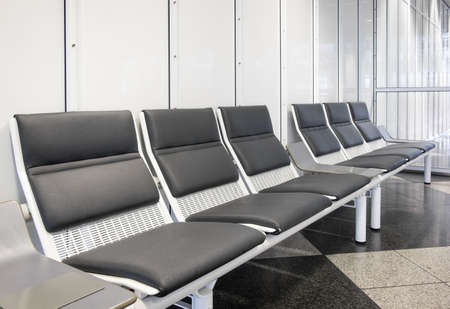 furniture part: chairs at a modern corridor Stock Photo
