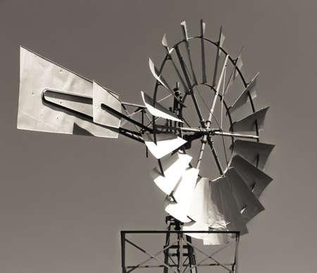 watermill: old windmill at a farm