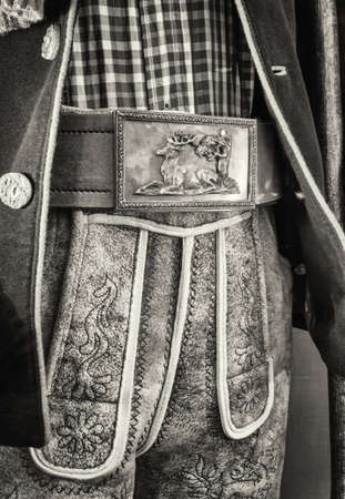 tracht: part of a typical old bavarian tracht