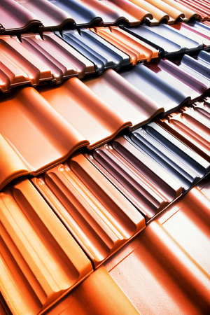 roof texture: different roof tiles - close up