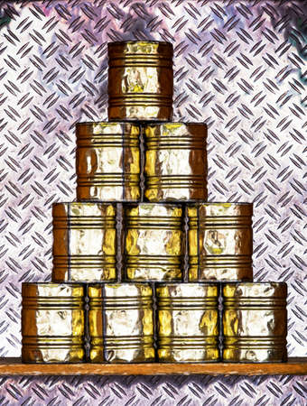 knockdown: tin can pyramid game - at a fair