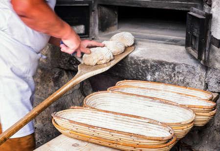 haciendo pan: making bread - vintage - old bakery
