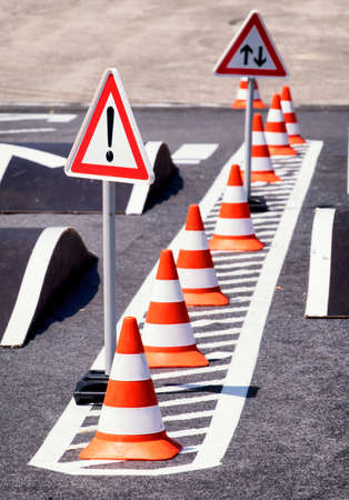 road marking: steet signs and road marking
