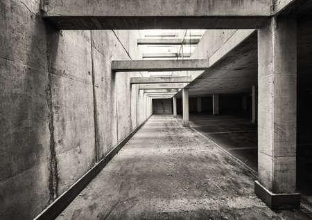parking lot interior: parking lots at a modern parking garage
