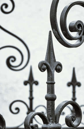 old fence: part of an old fence - close-up