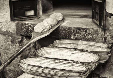 fabrication du pain - vintage - ancienne boulangerie