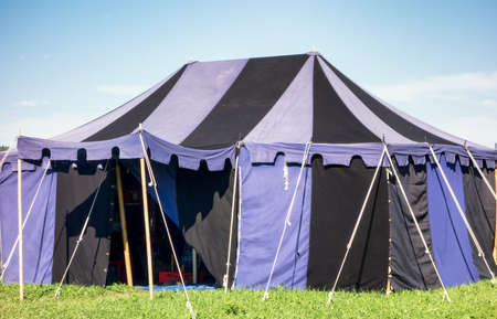 historical events: old tent at a festival Stock Photo
