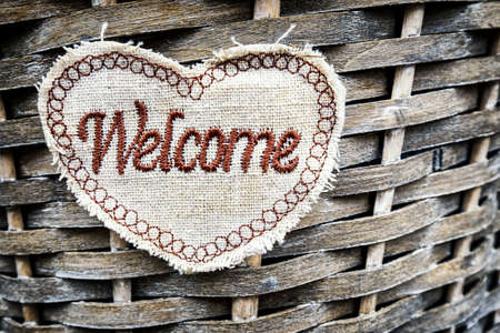 old fashioned: old fashioned welcome sign - photo