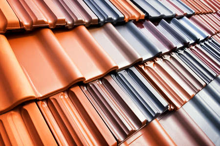 roof tiles: different roof tiles - close up