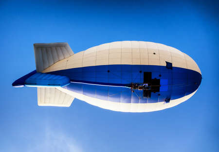 blimp: ROTTACH, GERMANY - FEB 27: blimp at the european hot air airship championship on feb 27, 2016 in rottach, germany