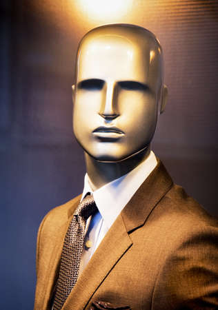 male mannequin: male mannequin with typical suit