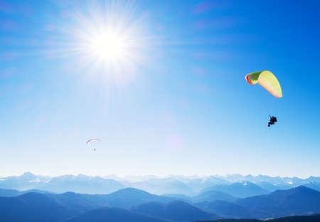paraglider: paraglider at the european alps