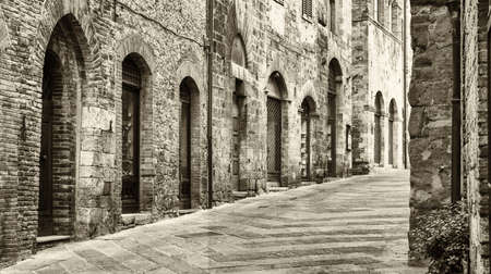 old town: old town of san gimignano - tuscany - italy Stock Photo