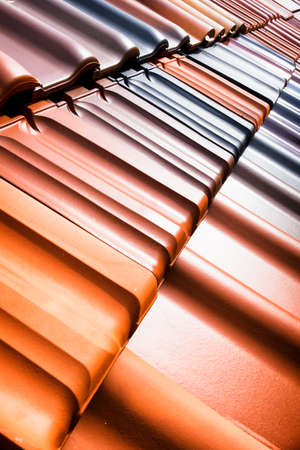 rooftiles: different roof tiles - close up