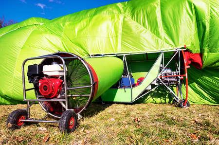 blimp: hot air airship at the startup