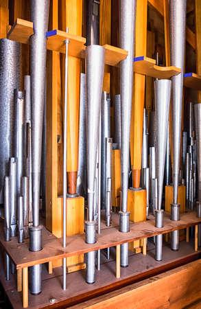 pipe organ: historic pipe organ at a church