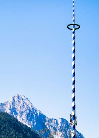 maypole: typical bavarian maypole
