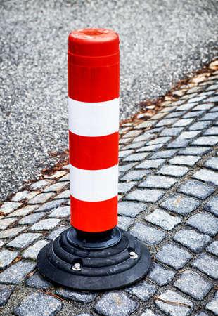 traffic cone: traffic cone at a street