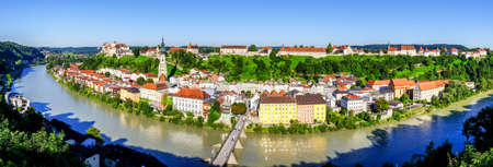 famous old town of burghausen - bavaria - germany
