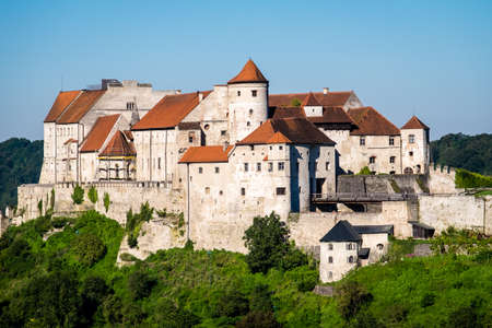 salzach: famous old town of burghausen - bavaria - germany