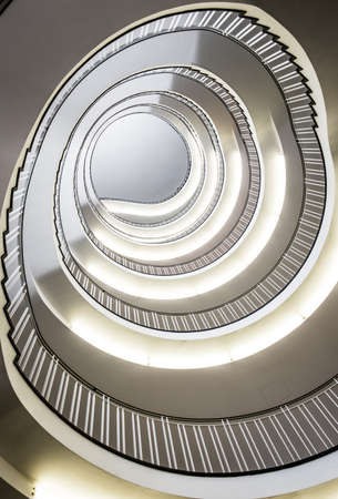 indoors: modern spiral staircase - indoors - photo Stock Photo