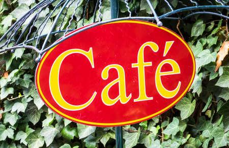 old sign: old cafe sign in austria