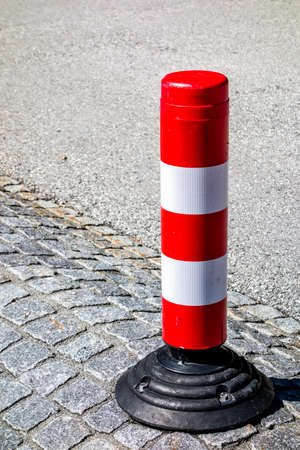 traffic cone at a street