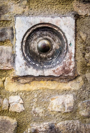 old bell button - closeup - photo