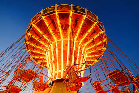 chairoplane: famous ferris wheel at the oktoberfest in munich - germany