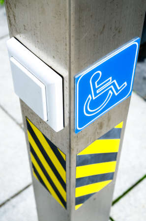 disabled sign: disabled sign at a door opener