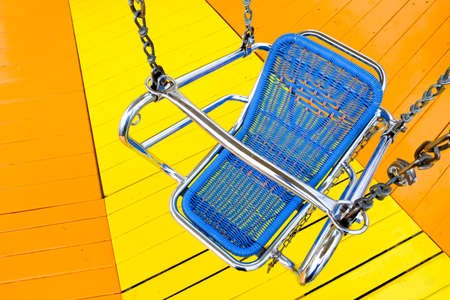 old chairoplane seat - chain carousel