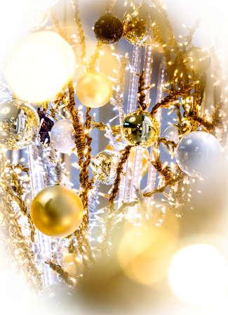 christmas bauble - christmas decoration - closeup Stock Photo