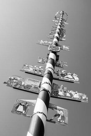 maypole: typical bavarian maypole - closeup - photo Editorial