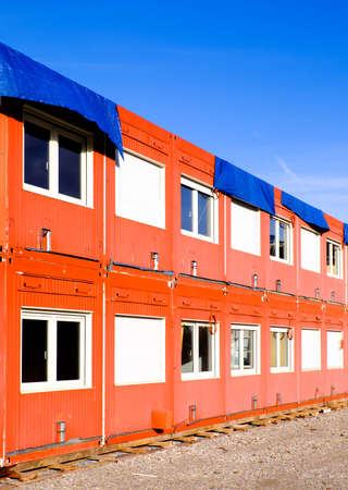 habitable: new red mobile home container