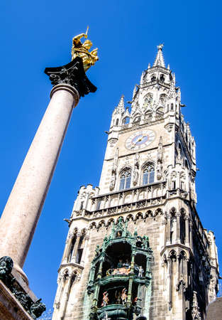 famous old munich city hall - germany