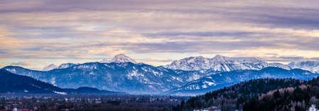 benedict: european alps at bad toelz - karwendel, benediktenwand Stock Photo