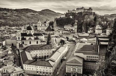 salzach: salzburg in austria - old town Stock Photo