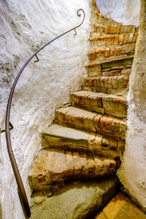 beautiful spiral staircase at a historic building