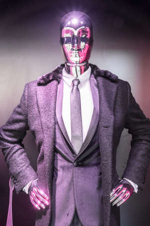 tailored: male mannequin with typical suit
