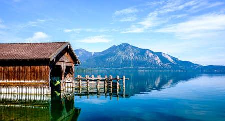boathouse at the walchensee - bavaria