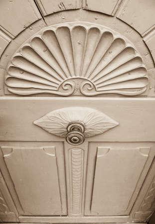 door knob: old doorknob at a frontdoor