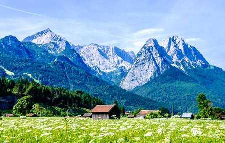 zugspitze mountain - european alps - hut