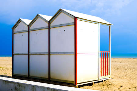 the bigger picture: locker rooms at a beach